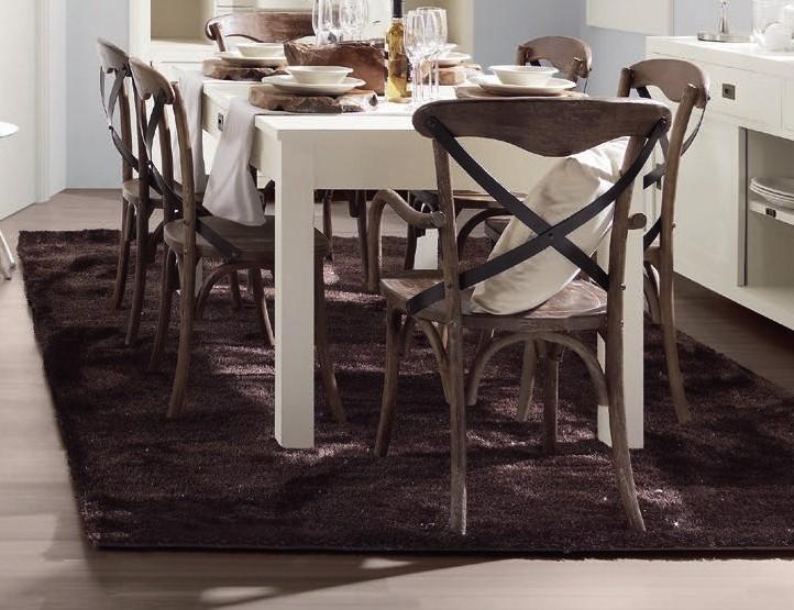 Conjunto mesa extensible y sillas Rustico moderno